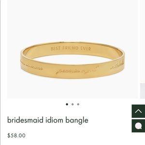 Kate Spade Bridesmaid Idiom Bangle
